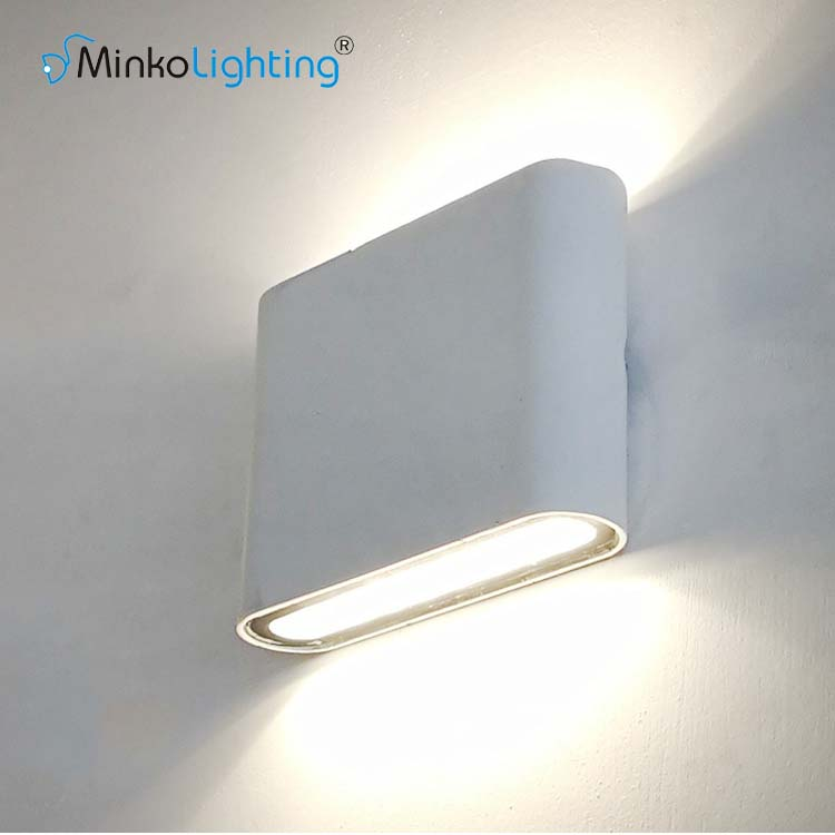 Modern Design customization fixtures 6w IP65 panel outdoor led up down wall light