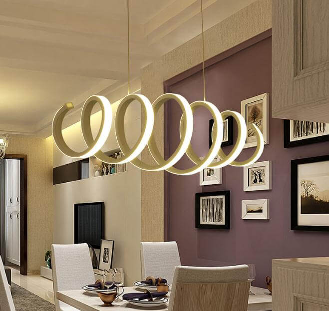 commercial led circular ring pendant lighting fixture