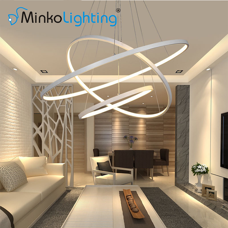 irregular cool white lighting led ring pendant ceiling fixture