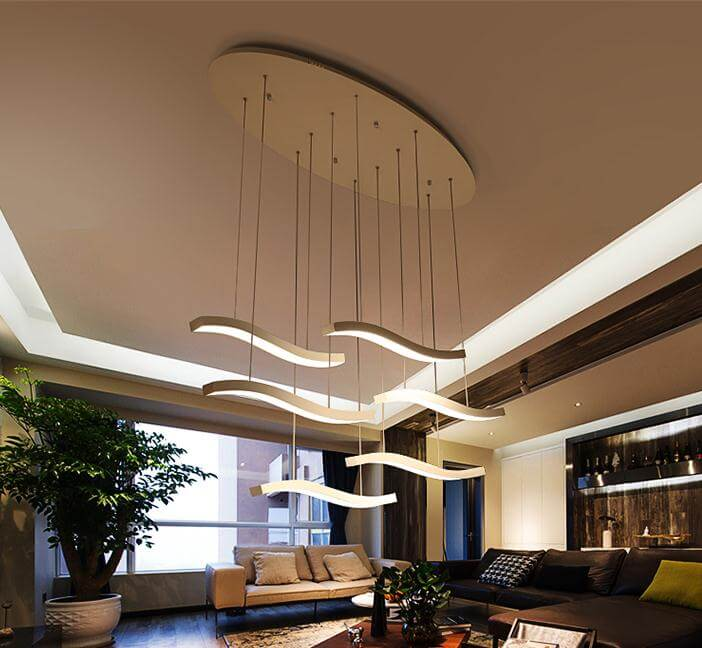 3 head 6 restaurants modern minimalist creative simple fashion long led chandelier