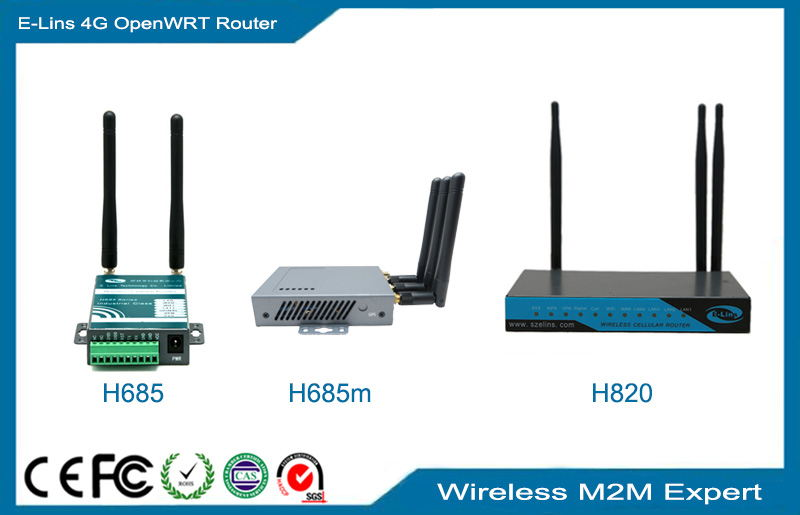 4G OpenWRT Router, OEM LTE WRT router 2.4Ghz 5Ghz Dual Band WiFi with POE GPS Se...