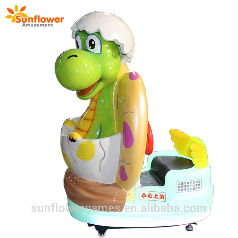New Arrival Indoor Game Coin Operated Dinosaur Kiddie Ride Rocking Game Machine with 12 LCD