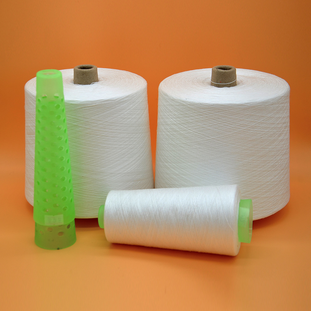raw white 100% polyester yarn keenest price 60/2/3