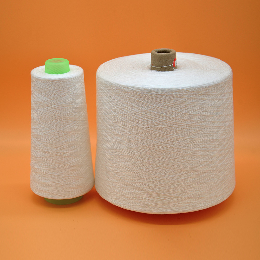 raw white 100% polyester yarn keenest price 40/2
