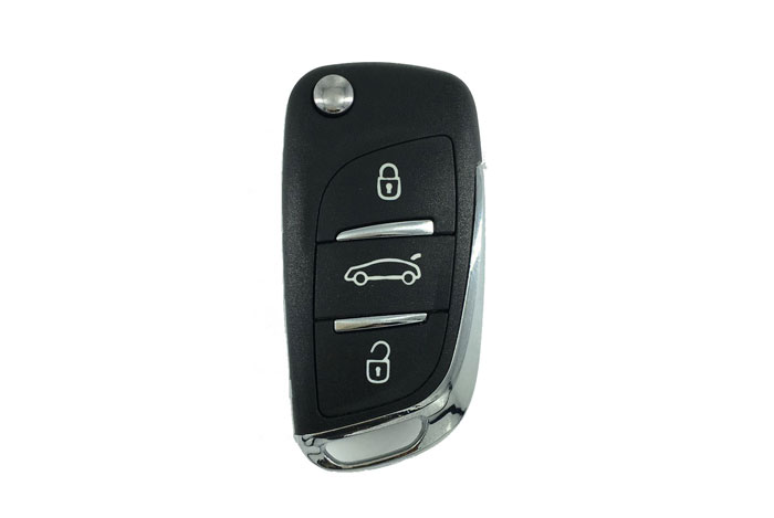 3 buttons DS style Peugeot 3008 folding key
