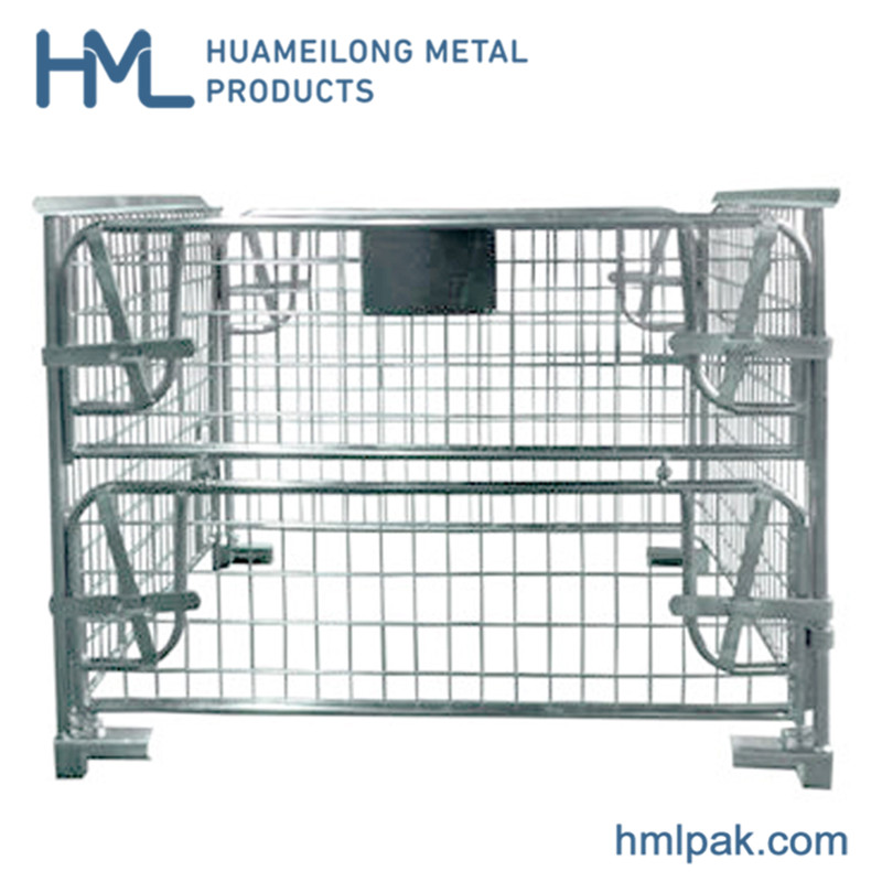 High quality hot sale transport storage stackable metal steel cage pallet
