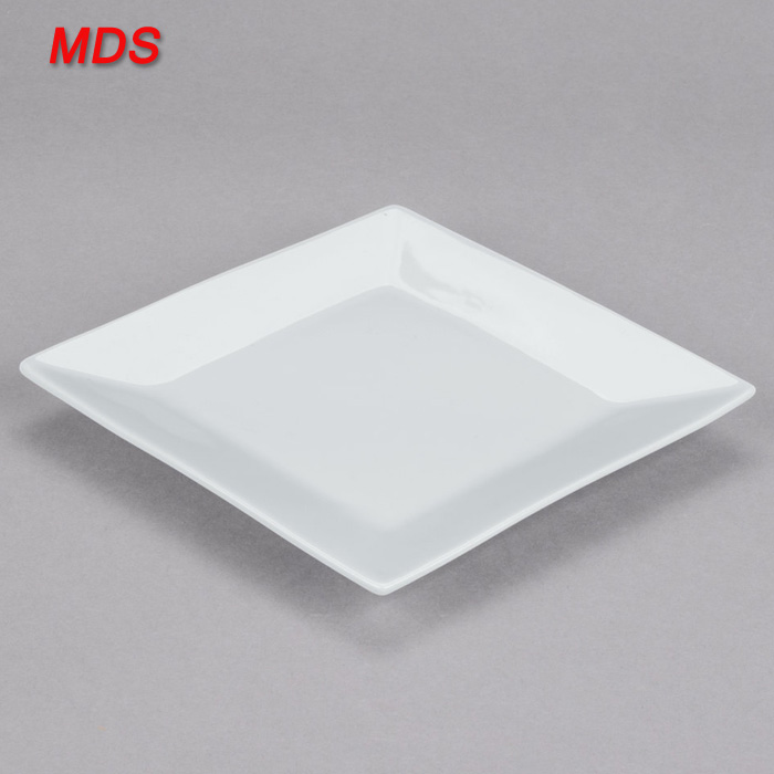 Hot sale 6inch white square porcelain plate uk for restaurant