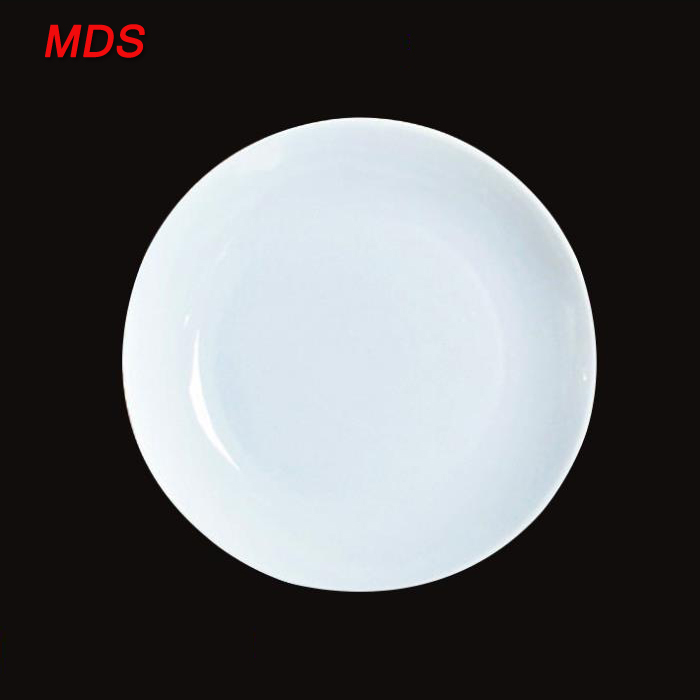 Nordic style daily chef wide-rimmed white ceramic plates for sale