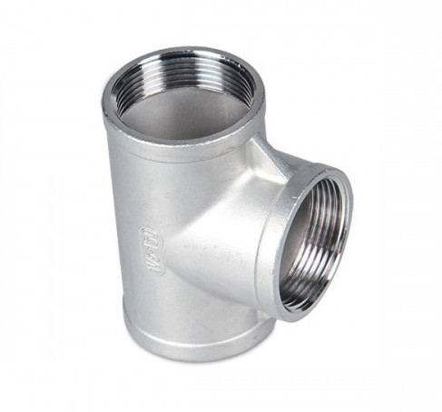 Factory Outlet high standard Stainless steel precision casting internal thread Tee