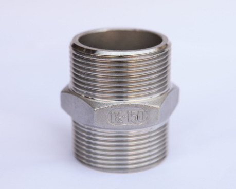 Industrial Stainless steel precision casting external thread Hex Nipple