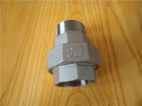 High quality Stainless steel precision casting internal/external thread conical Union manufacture