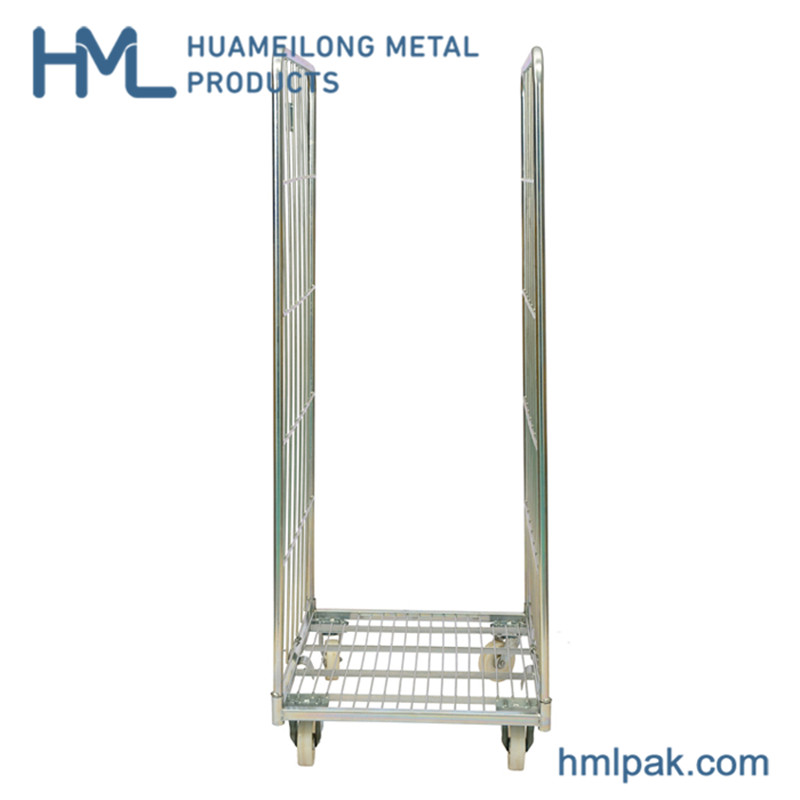 Warehouse industrial cheap A frame cargo transport galvanized roll cage for sale