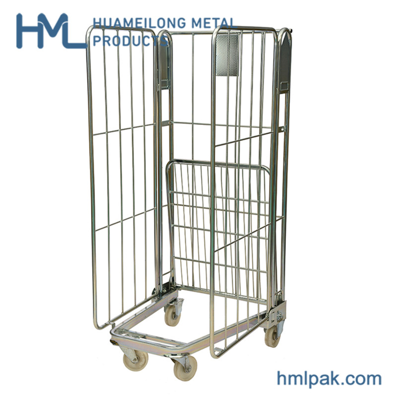 Goods transport high quality laundry logistic supermarket metal roll container