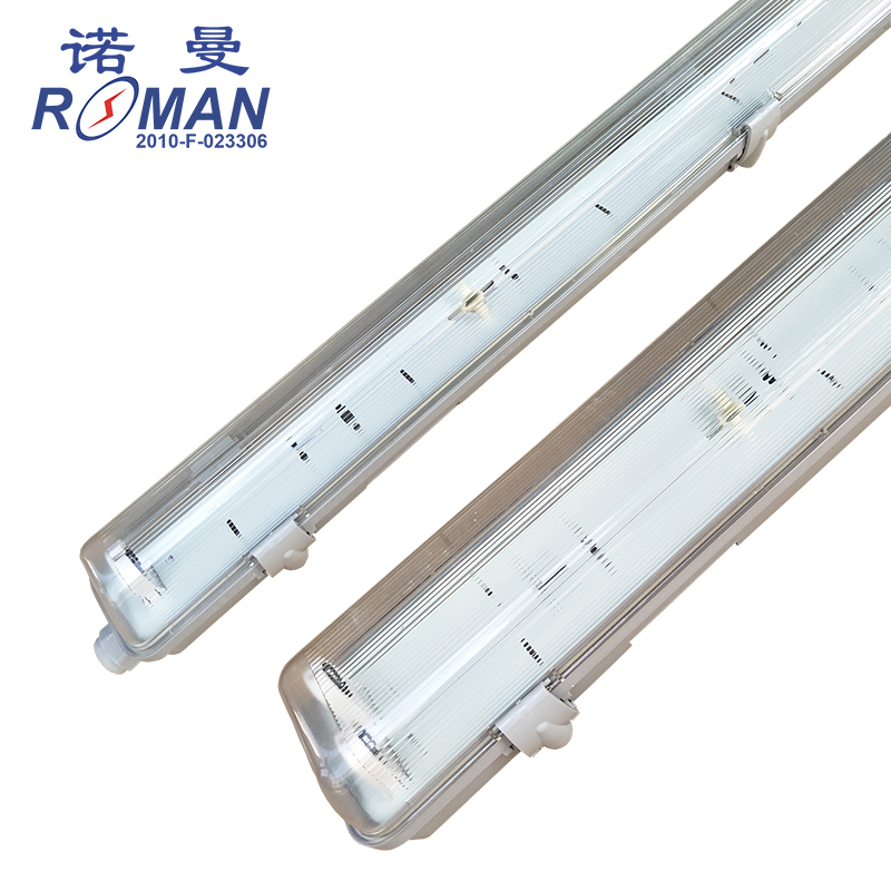 IP65 ABS bottom PC cover LED three anti-light bracket T8LED waterproof bracket T8LED three anti-purification lamp housing