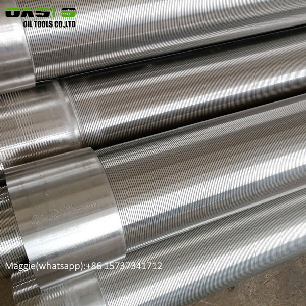 Wedge Wire Stainless Steel Screen 8inch Pipe size heavy duty screen with BTC thread coupling
