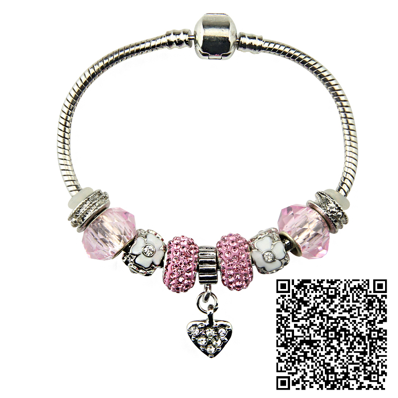 charms glass beads bracelet