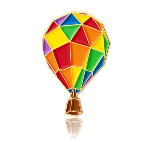 GS-JJ Hot Air Balloon Custom Enamel Pins