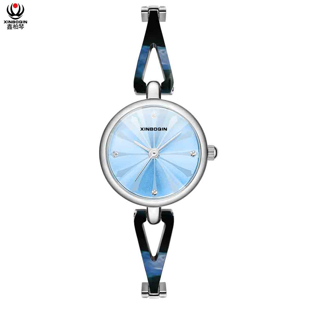 XINBOQIN Supplier Customised LOGO OEM Brand Hot Selling Fashion Latest Quartz Acetate Lady Watch
