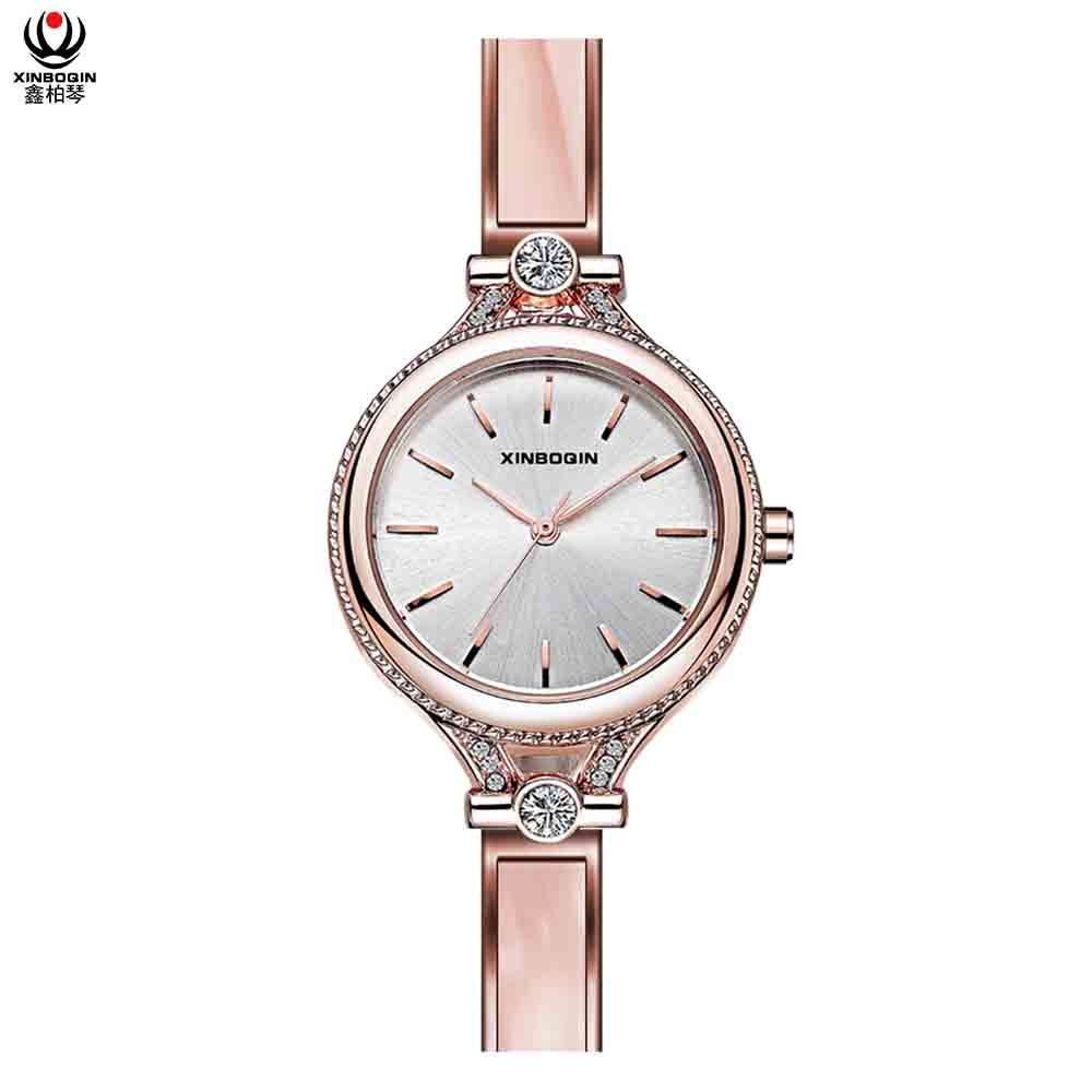 XINBOQIN Supplier Brand Cheap Luxury OEM Fashion New Latest Design Quartz Acetate Ladies Watch