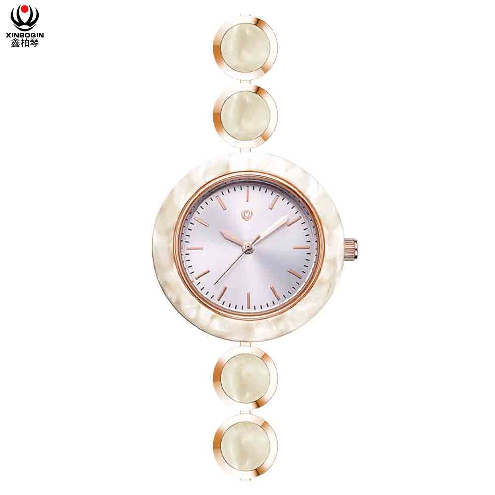XINBOQIN Factory Elegance Price Brand Luxury Fashion Colors Quartz Acetate Watch