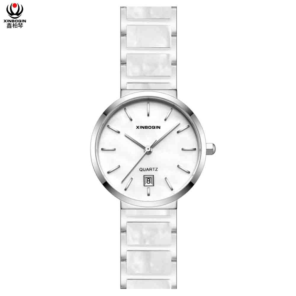XINBOQIN Factory Focus Brand Popular Vogue Acetate Women Quartz Waterproof Watch
