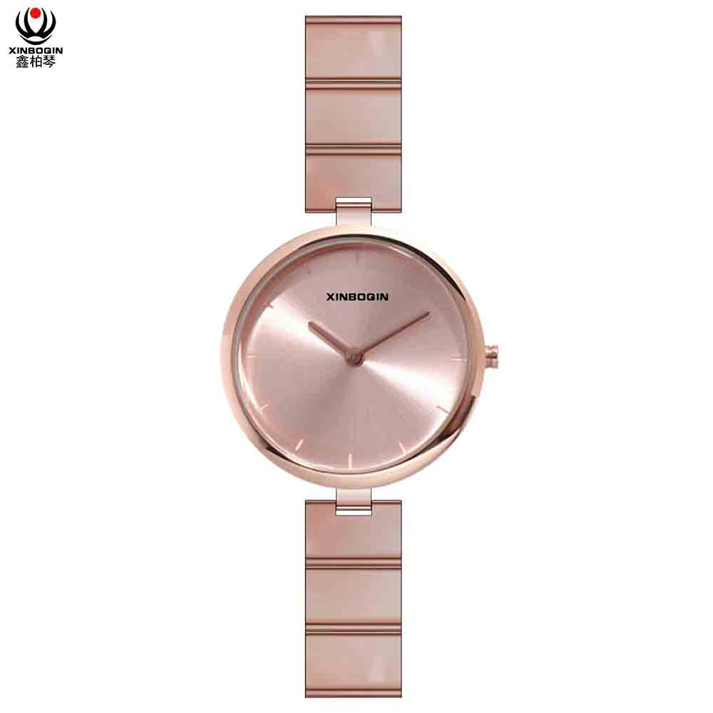 XINBOQIN Supplier Design Your OWN Latest Model Brand Luxury Quartz Acetate Women Watch