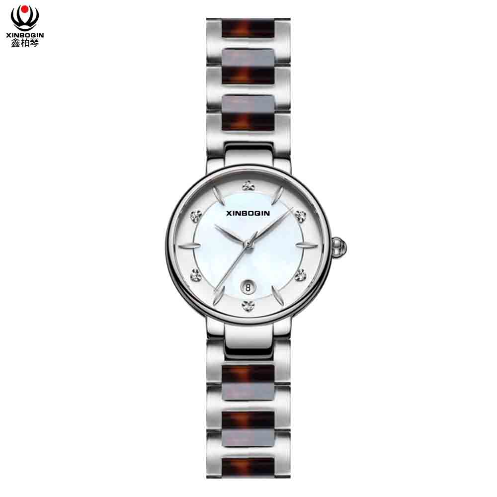 XINBOQIN Supplier Custom Wholesale Student Trend Design Quartz Japan Movt Acetate Women's Watch