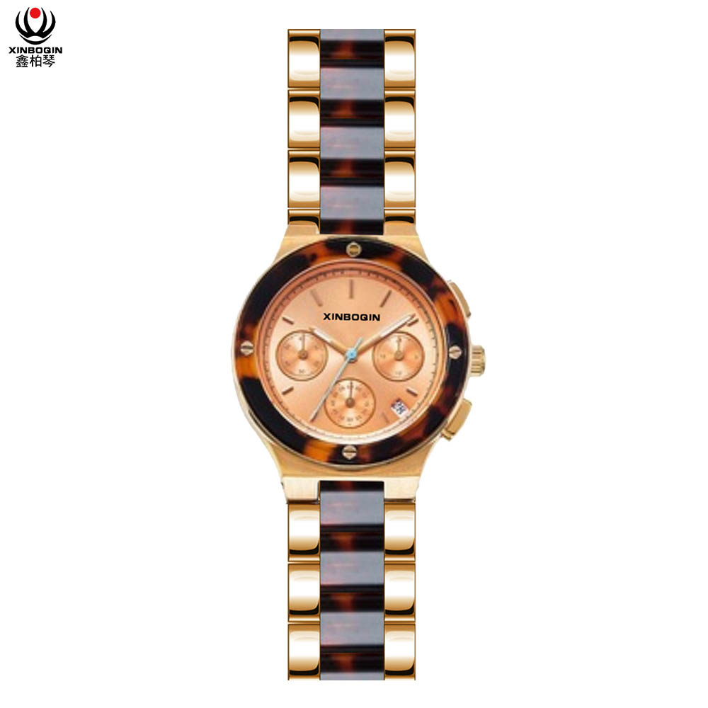 XINBOQIN Supplier Custom Brand New Style Custom Luxury Quartz Acetate Women's Watch