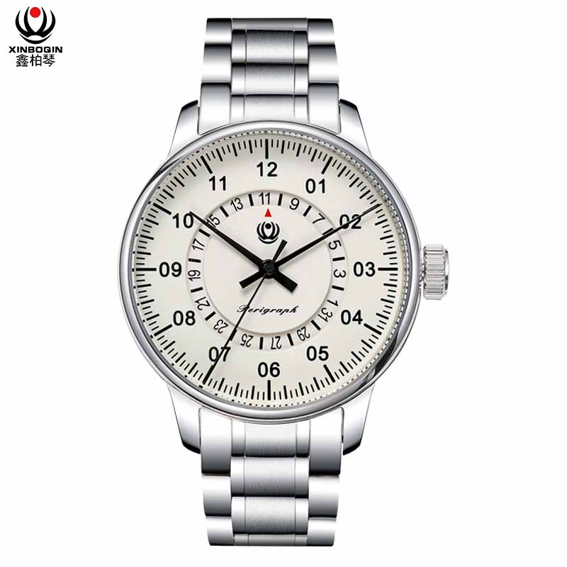 XINBOQIN Supplier Custom Design Focus Brand Hot Selling Tide Fashion Hand Mechanical Automatic Stainless Steel Man Watch