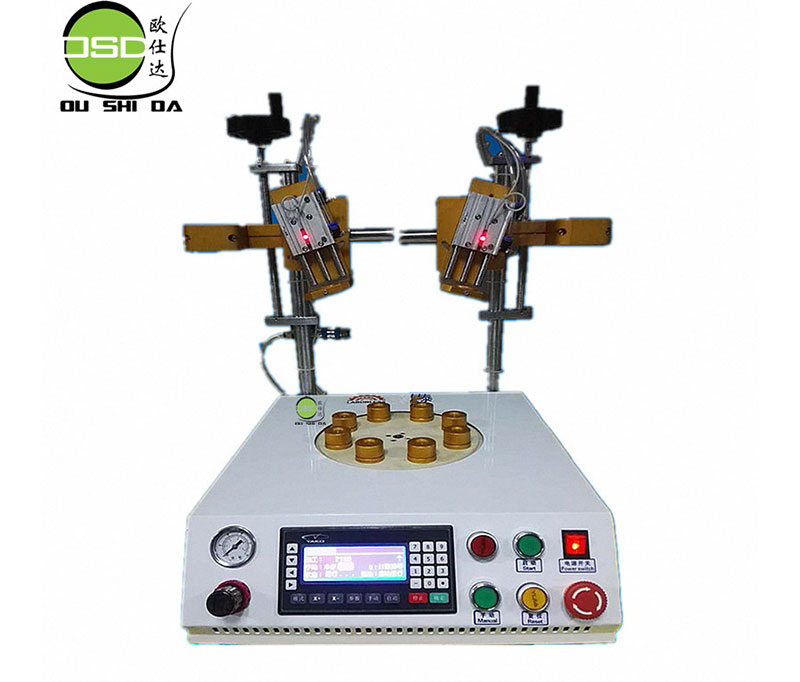 Bulb eight position glue machine