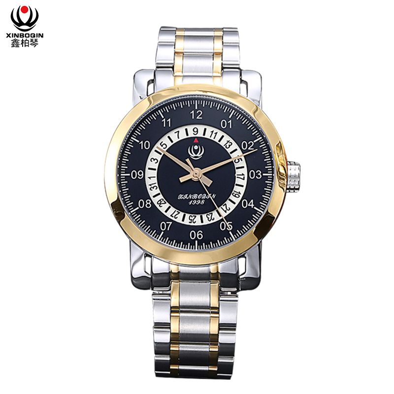 XINBOQIN Factory Men Brand Custom Fashion Colors Quartz Stainless Steel Watch