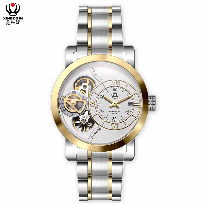 XINBOQIN Supplier Custom Brand Luxury Popular Men Fashion Quartz Stainless Steel Watch