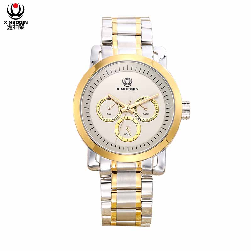 XINBOQIN Manufacturer Your LOGO Custom Made in China Wholesale Import Latest Model Quartz Stainless Steel Man Watch