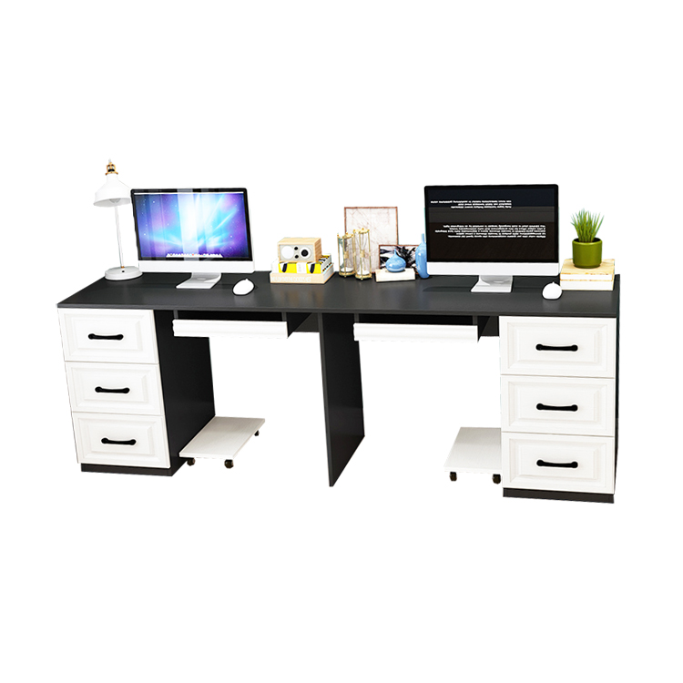 hot saling modern design panel furniture computer desk with drawers