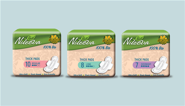 Eco Friendly Sanitary Pads Eco Friendly Sanitary Napkin Eco Friendly Panty Liners PLA Natural