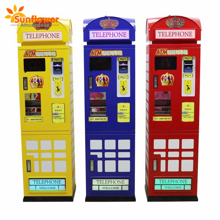 Highly Security Currency Exchange Money ATM Coin Change Vending Machine