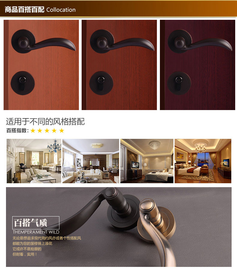 Solid brass mortise door handle