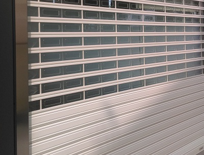 P03552 Sun-U Aluminum Alloy rolling door: the hidden designed operator with spring assisted mechanism offers precise balance makes opening and closing your door effortless but high speed. In addition
