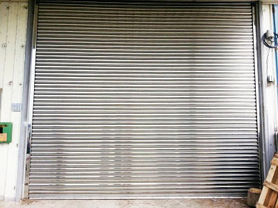 Garage Rolling Door - Stainless Steel