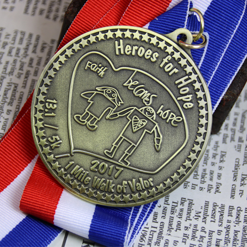Custom Race Medals-1 Mile Walk of Valor