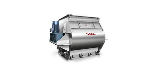 China Industrial twin shaft paddle mixer double paddle blender gravity mixer S&L ® supplier