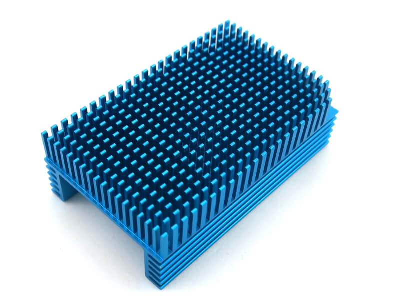 Blue Anodized BGA Heatsink