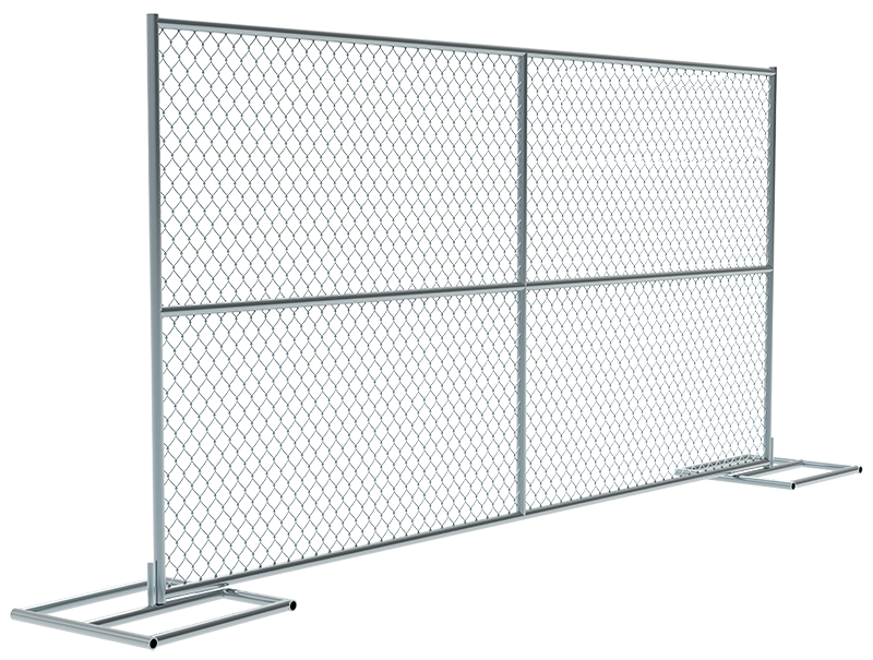 Temporary fence-chain link fence style