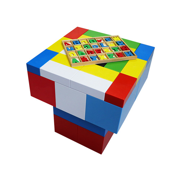 Factory directsell intelligence building blocks plastic student reading table kids child reading table