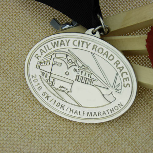 Railway City Road Race customized medals