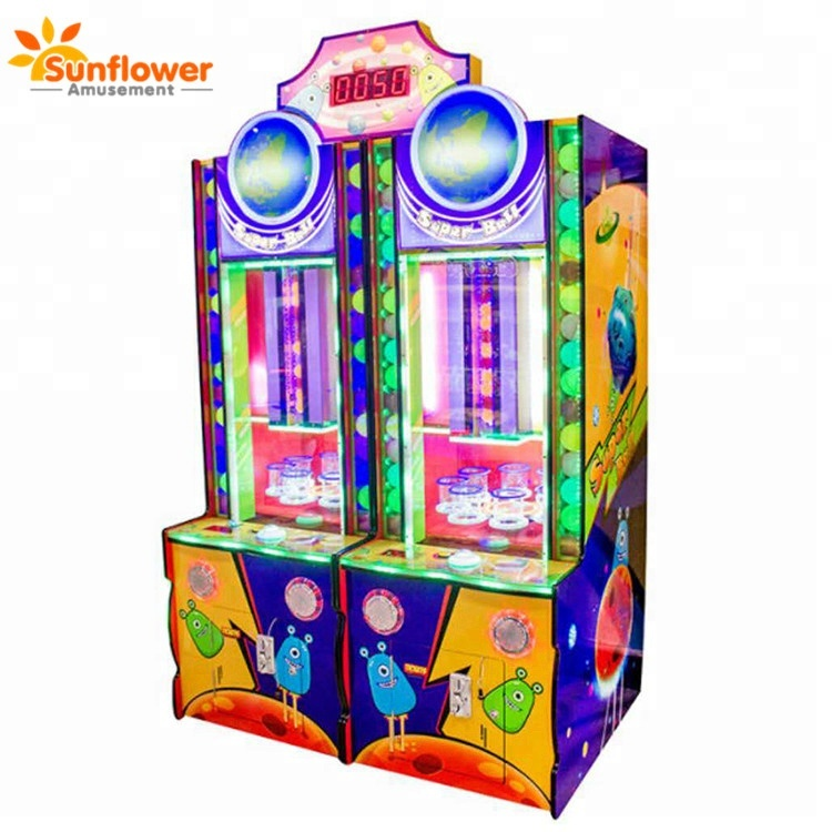 Indoor game center super ball ticket redemption ball drop game machine