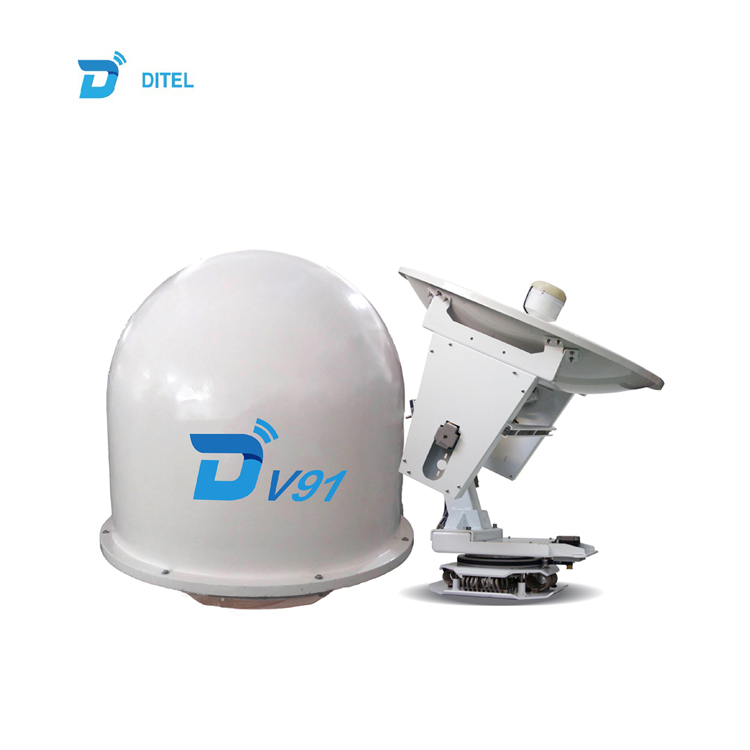 Ditel V91 Ku band 90cm 3-axis mobile satellite VSAT communication antenna for boat