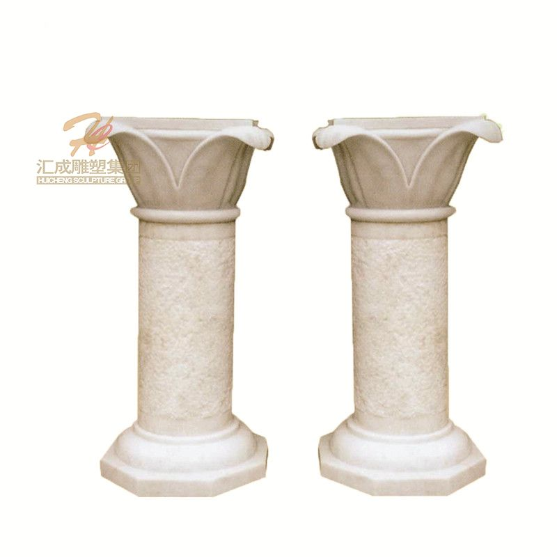 Factory Supply Modern White Marble Column Decorative Pillar