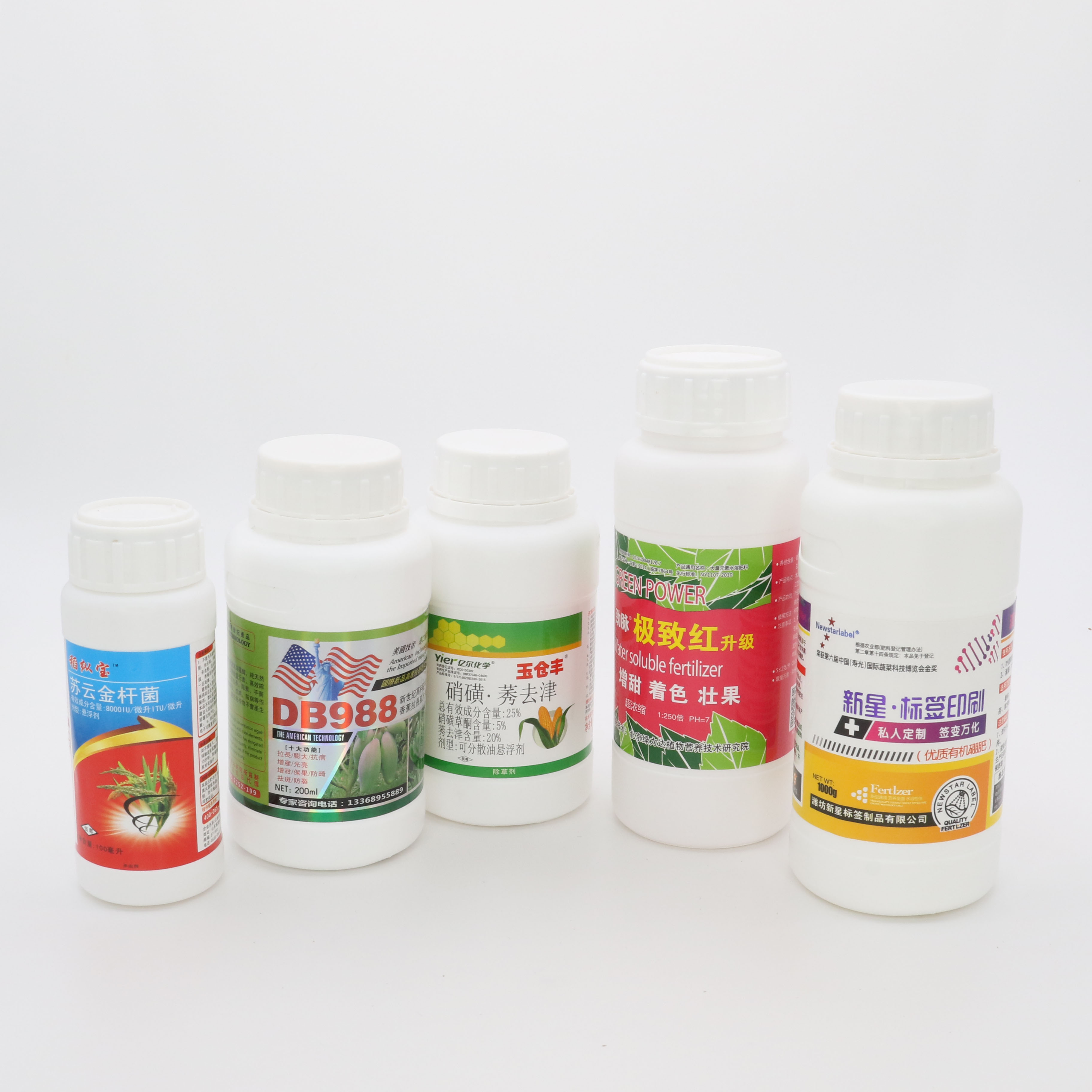 Printing adhesive waterproof pesticide stickers labels, custom pesticide bottle labels