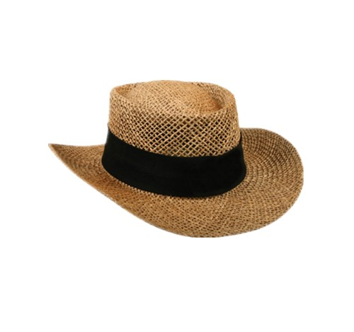 Paper straw cowboy hat for men